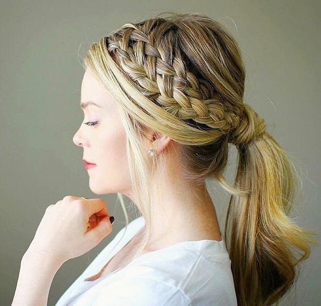 Peinados faciles cabello amarrado