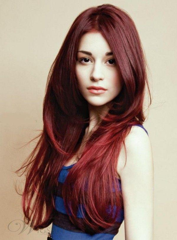 Color pelo rojo caoba