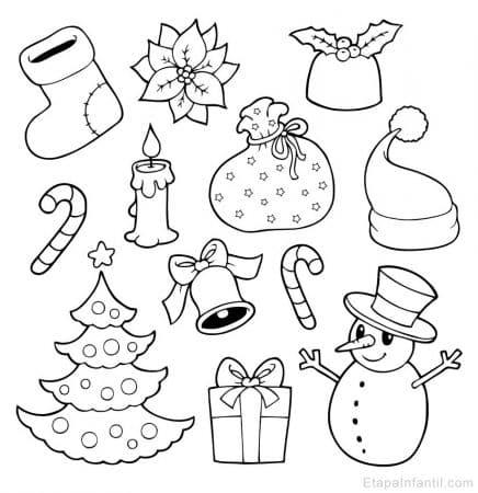 Dibujos navideños para colorear