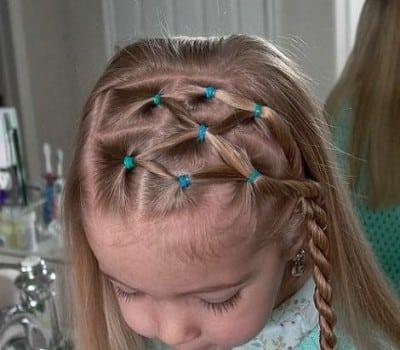 Hermosos Peinados Con Trenzas para niñas