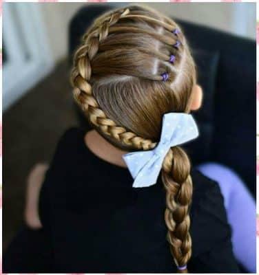 Peinados Para Niña Cabello Largo Con Ligas
