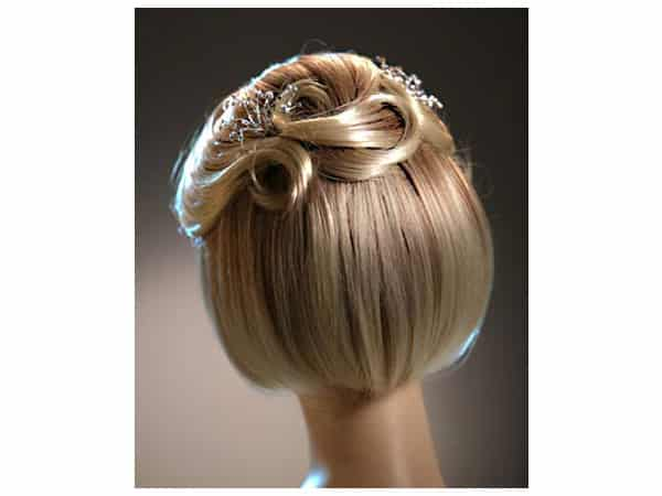 Peinados para novia con pelo corto