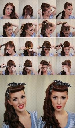 Peinados pin up paso a paso 2