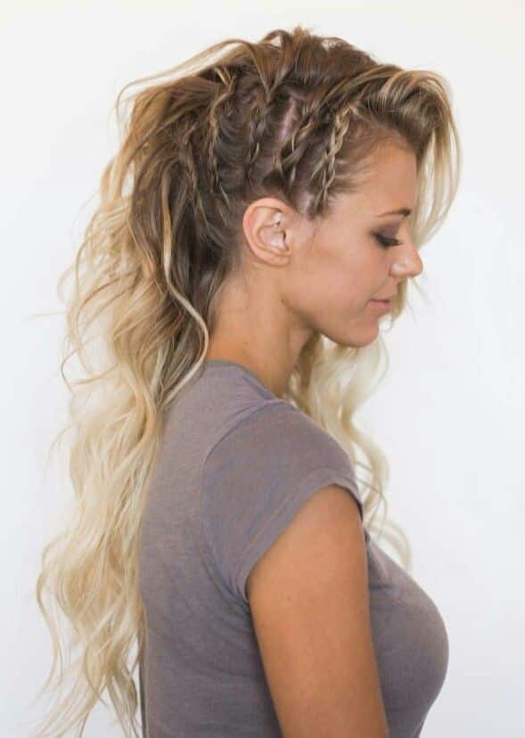 Trenzas laterales edgy designs
