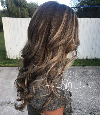 balayage cabello largo