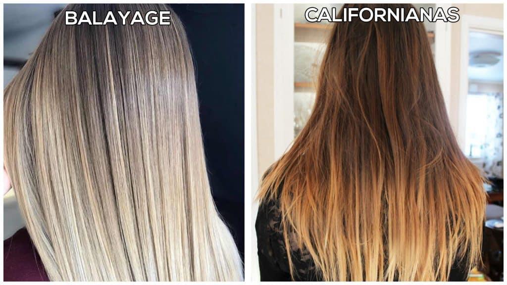 balayage vs californianas