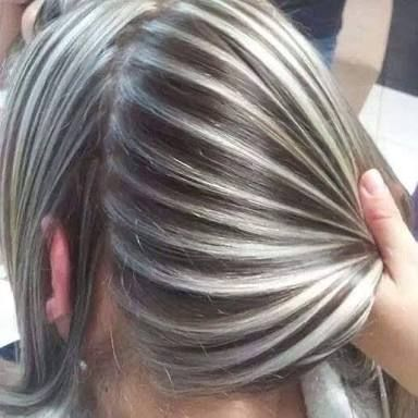 cabello color plata