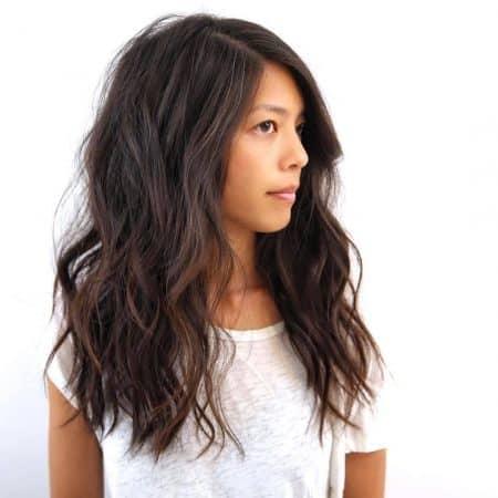 cabello rizado puntas