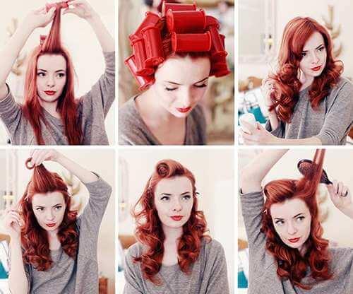 como hacer un peinado pin up con pelo largo
