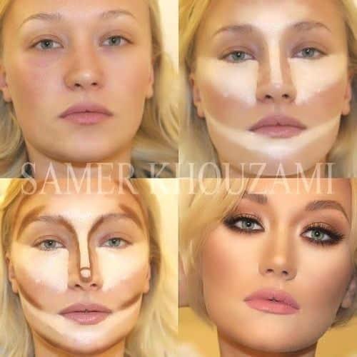 contouring maquillaje afinar
