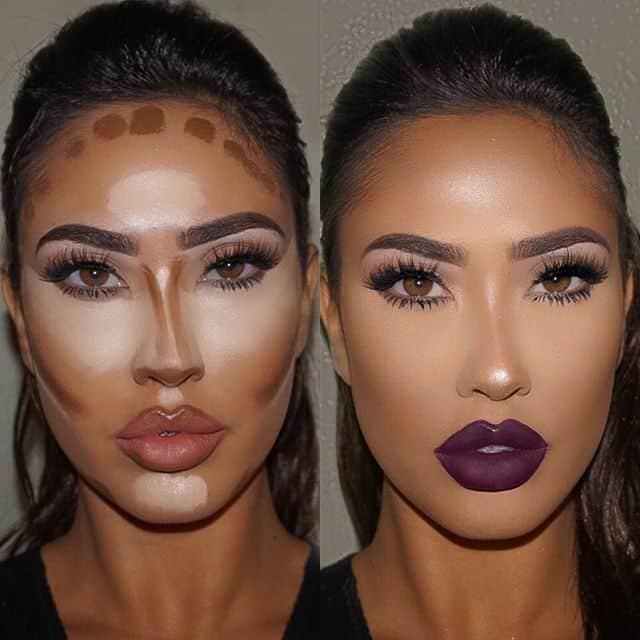 contouring maquillaje cara alargada