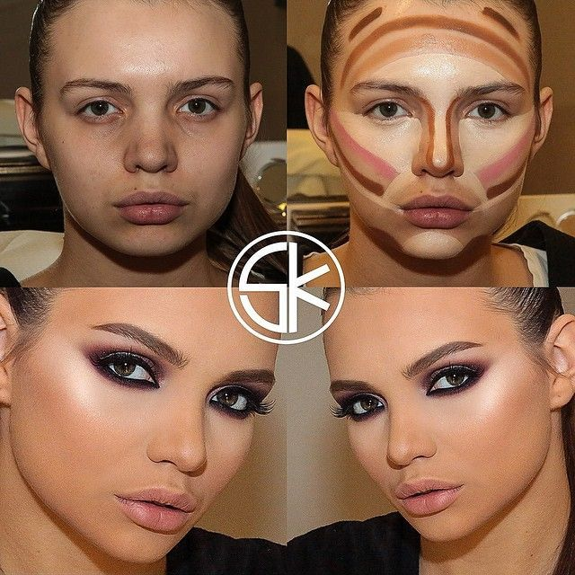 contouring maquillaje cara de diamante