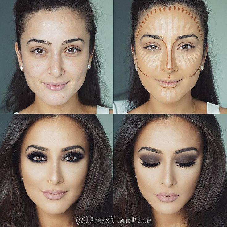 contouring maquillaje cara ovalada