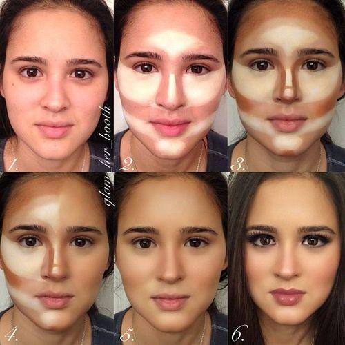 contouring maquillaje cara rectangular