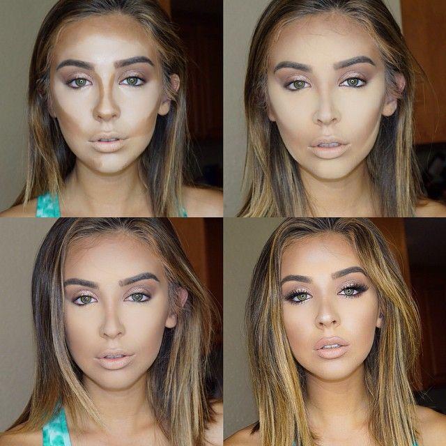 contouring maquillaje cara redonda