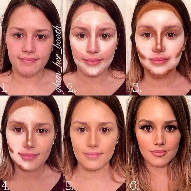 contouring maquillaje cara