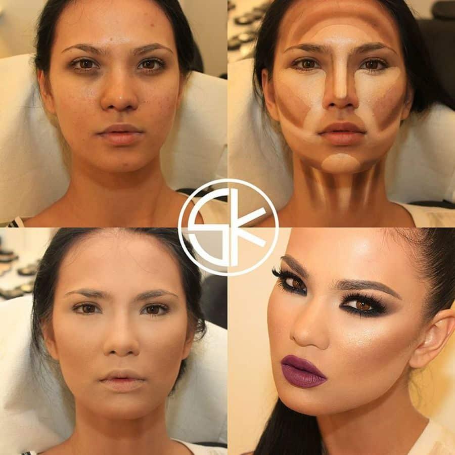 contouring maquillaje transformar