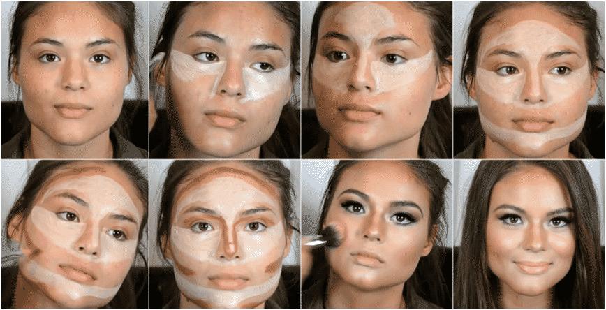 contouring maquillaje
