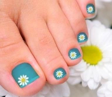 decorado con flores para uñas de los pies