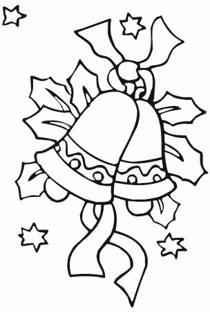 dibujos de navidad para colorear campanas