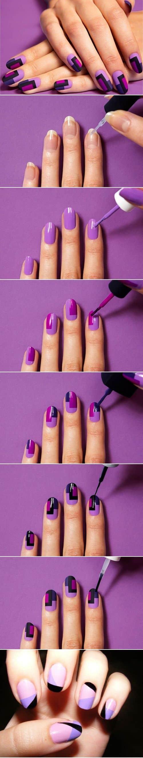 diseño de uñas moradas1