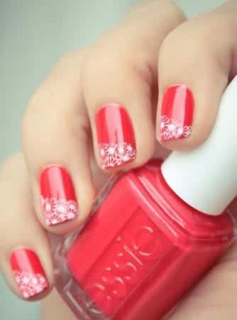 diseños de uñas con flores de acrilico