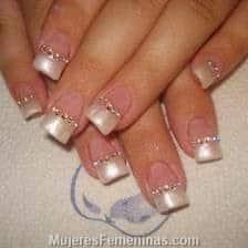 diseños para novias de uñas
