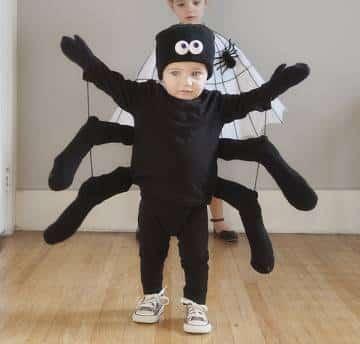 disfraz arana negra halloween