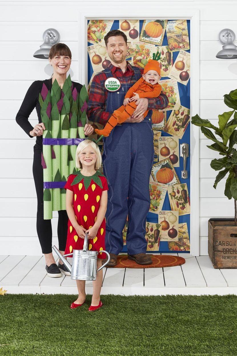 disfraz para familia de granjeros