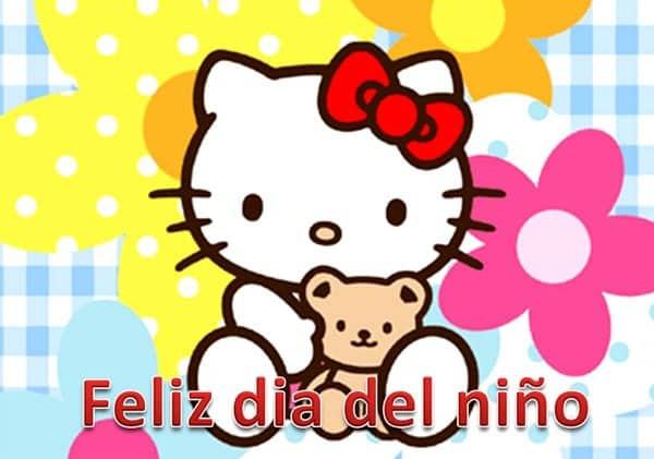 feliz dia del nino hello kitty