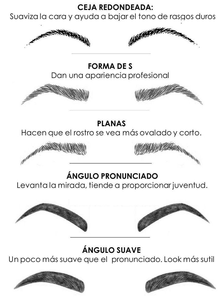 formas de cejas