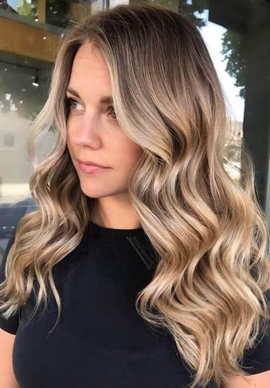 Peinados para pelo largo ondas