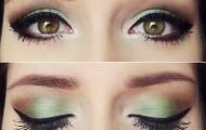 maquillaje-ojos-verde-eyeline-negro