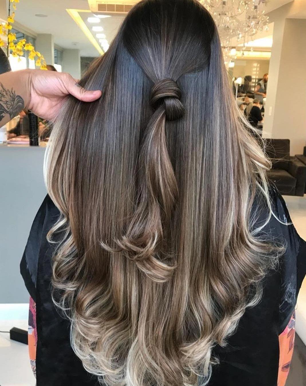 mechas balayage en pelo largo