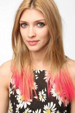 mechas californianas rojas cabellos rubios