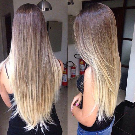 mechas californianas rubias cabello lacio