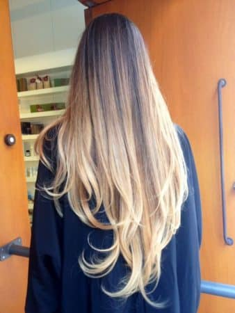 mechas californianas rubias pelo largo