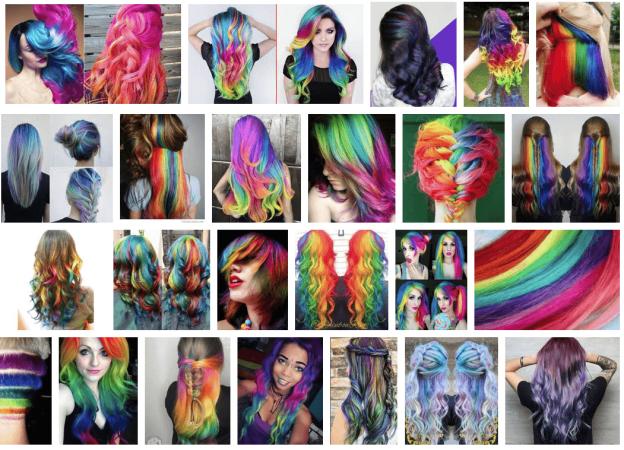 mechas de colores