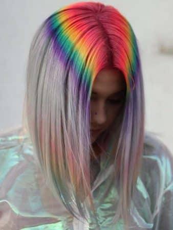 mechas de colores arco iris