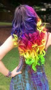 mechas de colores arcoiris