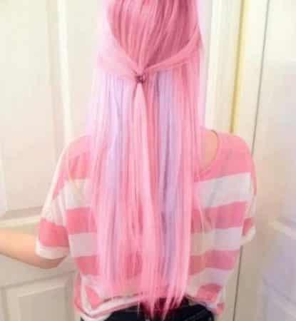 mechas de colores rosado