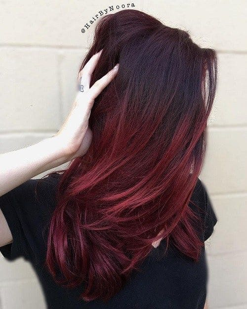 mechas rojas californianas