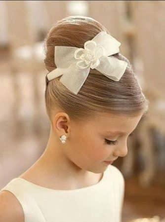peinado elegante fiesta niñas