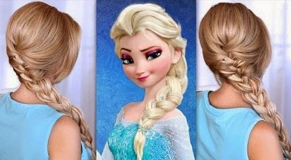 peinado elsa frozen