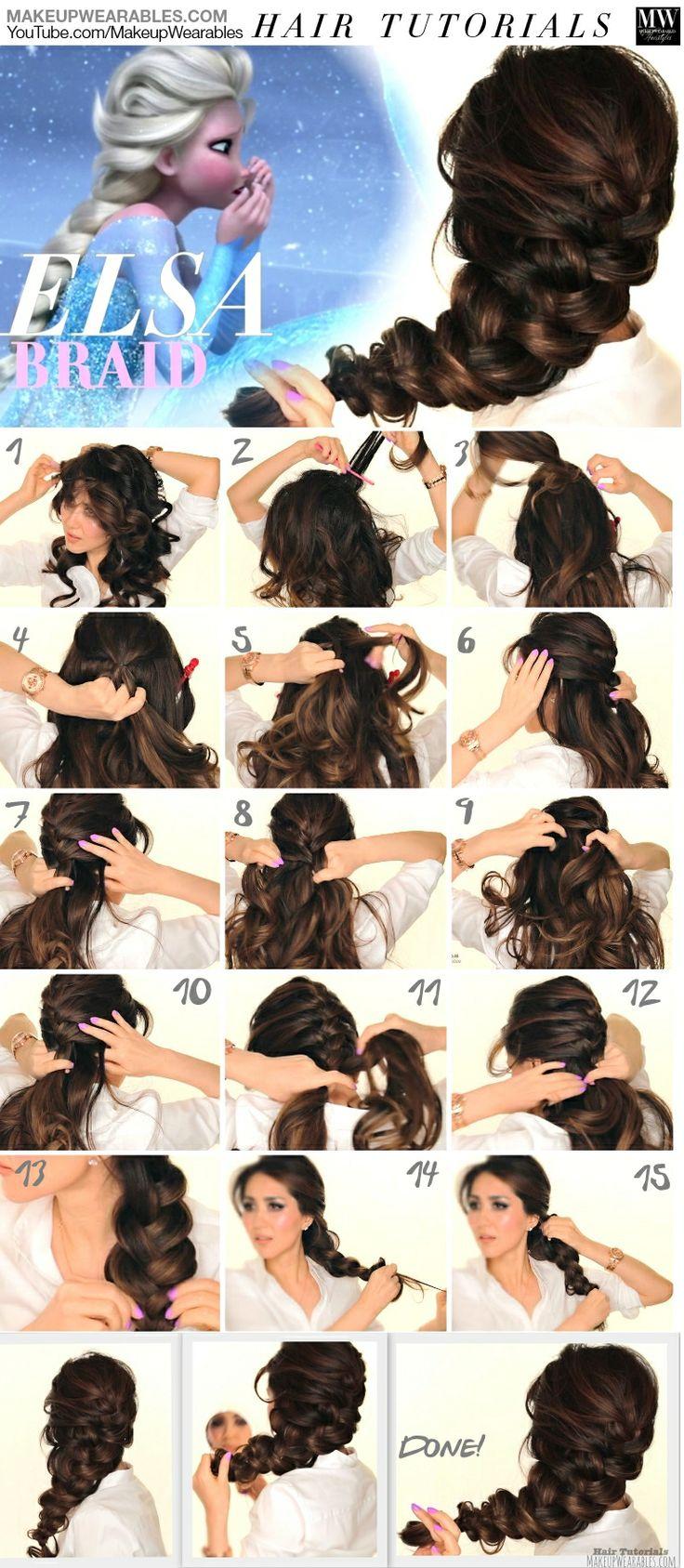 peinado elsa paso a paso