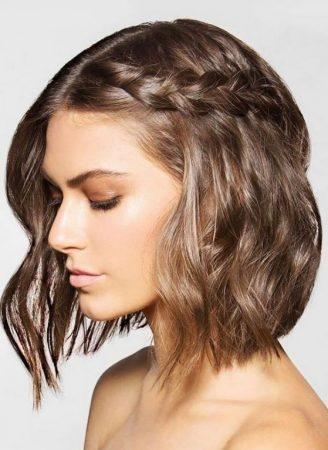 peinado en caida de agua para cabello corto 2
