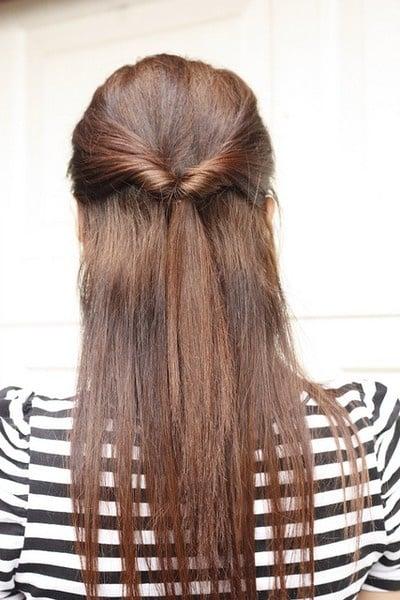 peinado para la escuela atado