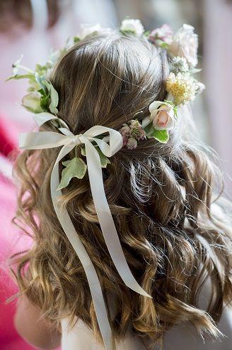 peinado primera comunion ondas flores sirena