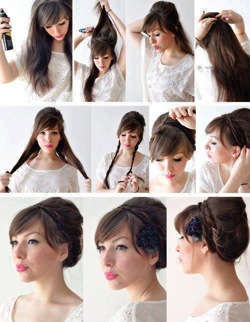 peinado recogido bonito sencillo