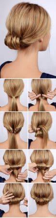 peinado recogido corto en 6 pasos1